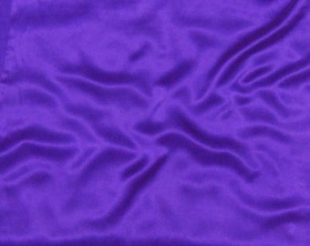 Sandwashed Silk CHARMEUSE Fabric ROYAL PURPLE - 1/4 Yard