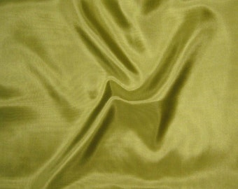 CHARTREUSE GREEN China Silk HABOTAI Fabric - 1/2 Yard