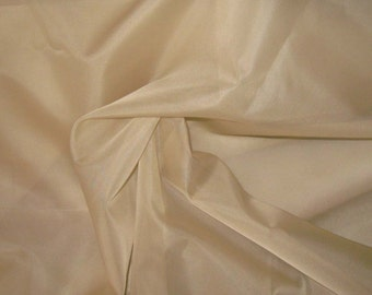 SANDY BEIGE Silk Organza Fabric - 1 Yard