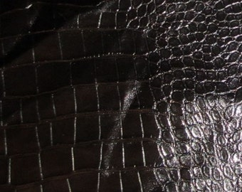 Black Embossed GATOR Leather Hide #2