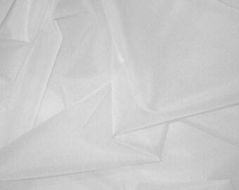 white silk organza fabric 1 yard 54 inch width