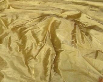 YELLOW GREEN Silk DUPIONI Fabric - 1 Yard