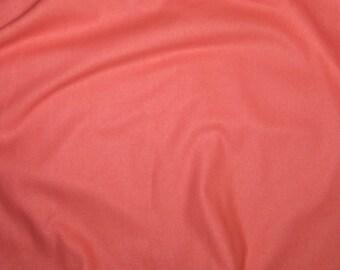 SALMON Raw Silk Noil Fabric - 1/2 Yard
