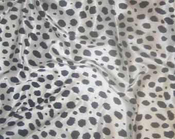 Silk Charmeuse - Black & White JAGUAR - 1 Yard
