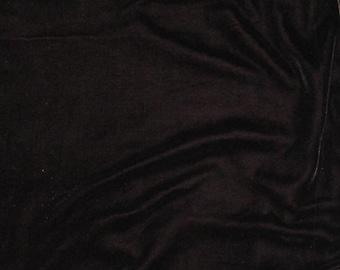 PRUNE PURPLE Silk Velvet Fabric - 1 Yard
