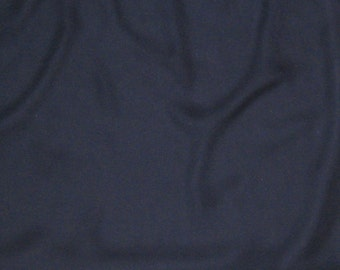 NAVY BLUE Silk Chiffon Fabric - 1 Yard