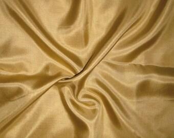 GOLD China Silk HABOTAI Fabric - 1 Yard