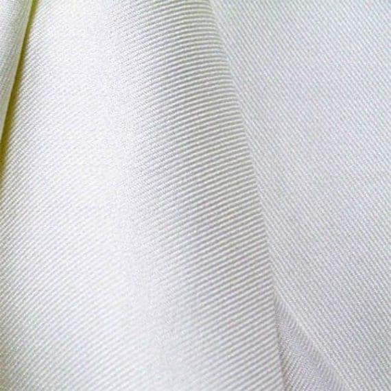 Natural White Silk Wool Challis Blend Fabric By Silkfabric