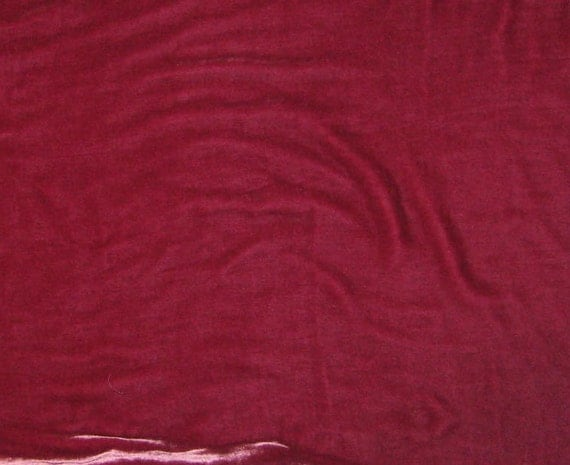 Garden ROSE Washed Silk Velvet Fabric - fat 1/4