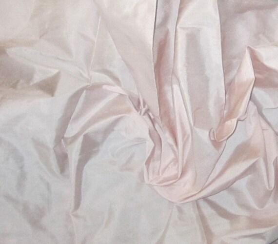 PALE PINK Silk DUPIONI Fabric - remnant