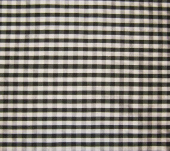 Black And White Checkered Silk Dupioni Fabric