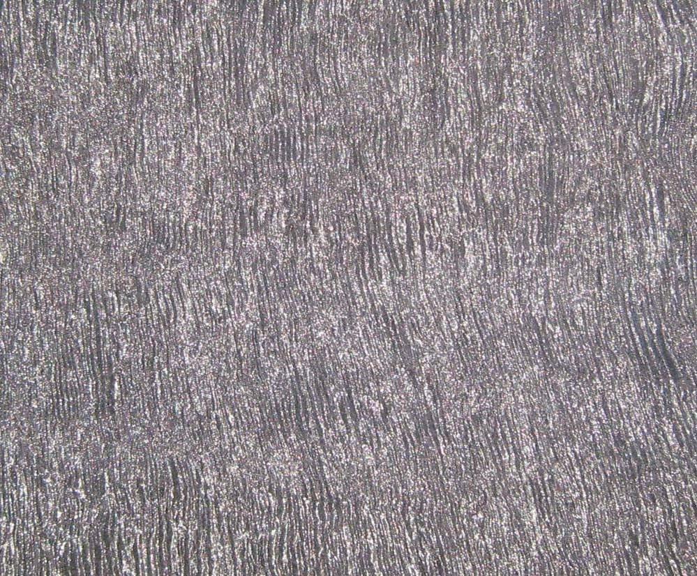 Crinkle Metallic Silk Organza Fabric Dark Silver 1 3 Yard