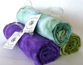 Bamboo Swaddle Blanket, Hand Dyed Kiwi