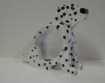 Wood Piggy Bank - Dalmation Dog