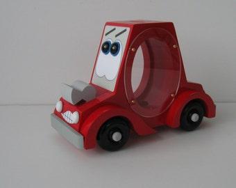 Wod Pigg Bank - Red Car