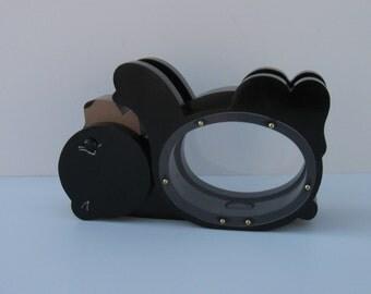 Wood Piggy Bank -Black Bear