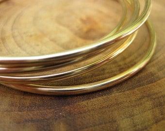 14kt Gold Filled Bangle Set of Three