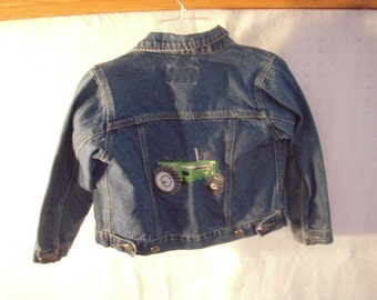 Boys Jean Jacket with Tractor Applique