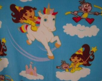 Dora the Explorer NoSew Fleece Blanket