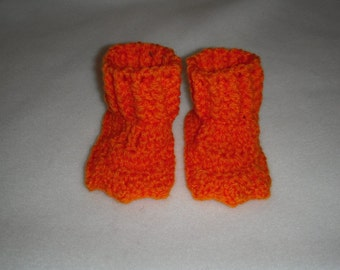 Duck Feet Booties Crochet - Orange