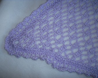 Lilac Crocheted Afghan
