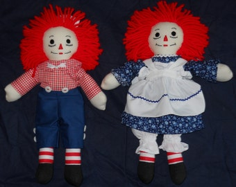 10 inch Traditional Raggedy Ann and Andy Dolls