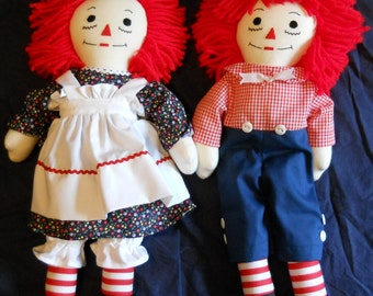 Traditional Raggedy Ann and Andy Dolls (15 inch)