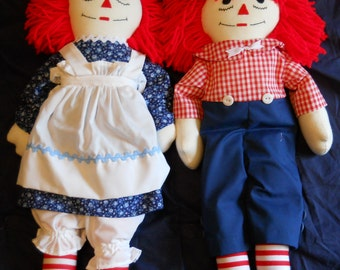 Traditional Raggedy Ann and Andy Dolls (20 inch)