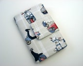 Kindle Fire Cover Stand in Moped Fabric Made to order