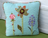 3 Flowers Fun Quilted Pillow Cover