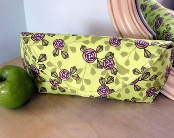 Apple green cute nests clutch ready to ship