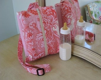 Pink Compact Travel Change Pad Bag Ready to Ship