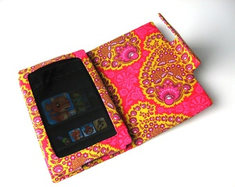 Pink and Gold Paisley Kindle Fire or Nexus Cover Stand Clearance ready to ship