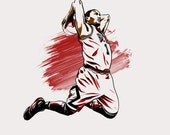 Derrick Rose Chicago Bulls NBA Illustrated Print (Limited Edition)