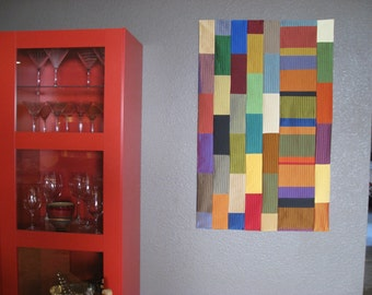 Art Quilt Color Block Wall Hanging