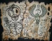Cthulhu larp DARK RITUALS Necronomicon Scrolls occult witchcraft horror steampunk magic
