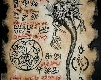 SPAWN of CTHULHU Necronomicon Fragment larp outsider dark art