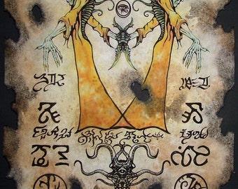 cthulhu King in Yellow larp Necronomicon Scrolls dark witchcraft magick