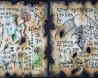 Cthulhu larp YUGGOTH TEXT Necronomicon occult witchcraft horror steampunk magic