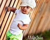 Lime Olive Baby Bloomers