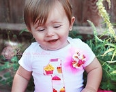 1st Birthday Cupcake Tee-READY TO SHIP-Size 12 months