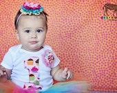 1st Birthday Light Pink Cupcake Onesie or Tee