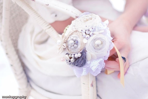 Wedding bouquet - custome made to order FAIRY TALE Bridesmaid Bouquet