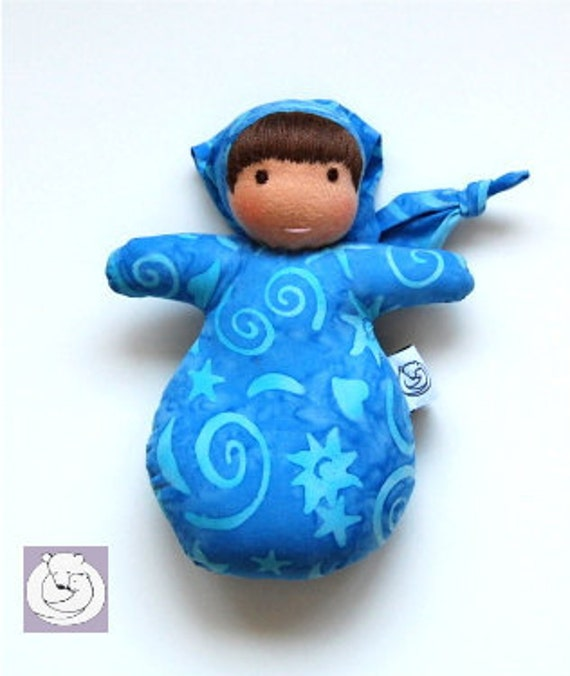 Waldorf inspired Mini Baby Doll Blue