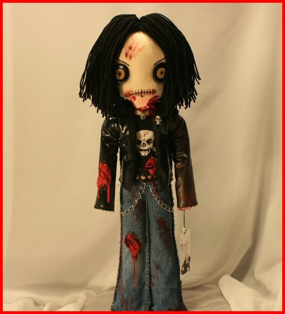 OOAK Hand Stitched Zombie Doll Creepy Gothic Horror Folk Art By Jodi Cain