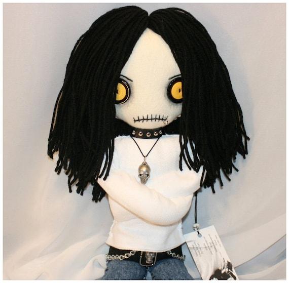 OOAK Hand Stitched Psycho Rag Doll Creepy Gothic Folk Art By Jodi Cain