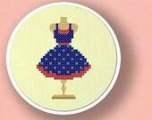 Dress Form. Cross Stitch PDF Pattern