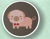 Cute Piggy. Cross Stitch PDF Pattern