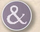 And. Ampersand Cross Stitch PDF Pattern