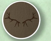 Antlers Silhouette. Cross Stitch PDF Pattern